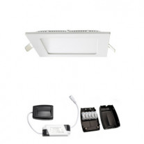 LED alasvalo FTLIGHT SLIM STYLE HIGH POWER SQUARE 9W 3000K