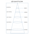 LED alasvalo FTLIGHT SLIM STYLE 12W 3500K IP21 900lm, asennusreikä 150-155mm_83512
